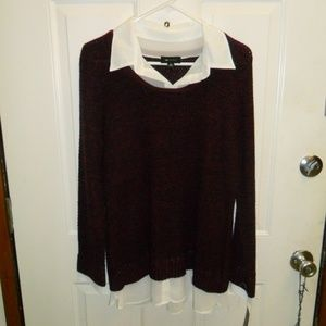 Layered look knit top
